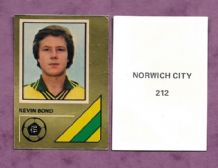 Norwich City Kevin Bond 212